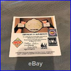 1999 WCW World Heavy Weight Championship Replica Metal Adult Title Belt WWE COA