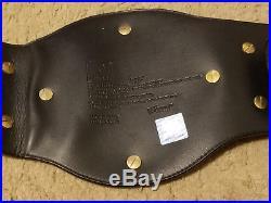 2001 Figure Toys Wwf/wwe Big Eagle Attitude Era Black Leather Championship Belt