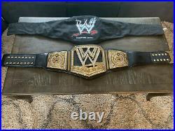 2013 WWE Scratch Logo Wrestling Adult Metal Championship Title Belt WWF