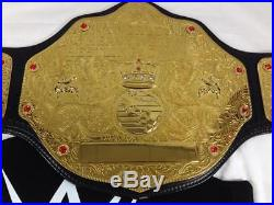 2015 WWE World Heavyweight Wrestling Championship Replica Belt Leather Red/Gold