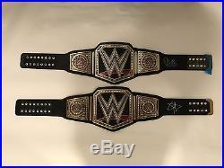 2 Signed WWE Championship Belts