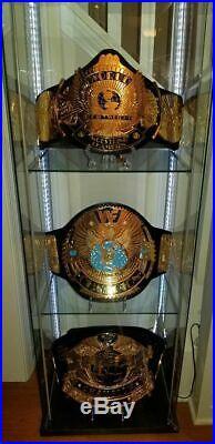 3 Belt Set WWF World Wrestling championship belt BRASS METAL 4MM