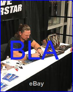 AJ STYLES Autographed SIGNED Adult WWE Championship Title Belt New with COA PROOF