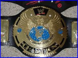 ATTITUDE ERA WWE WORLD CHAMPIONSHIP METAL ADULT SIZE REPLICA TITLE BELT wwf ROCK