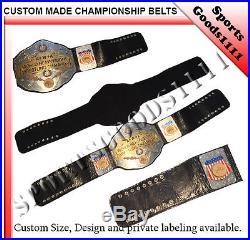 A+W+A Wrestling Championship REPLICA 3 layer Plate Belt WWE WWF WCW UFC WWF AWA