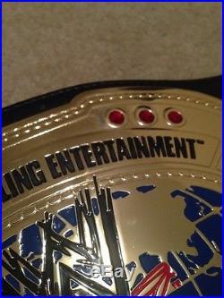 Adult WWE Intercontinental Championship Title Belt Replica Metal Plates Oval IC
