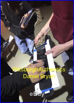Aj Styles Daniel Bryan Bray Wyatt Signed Autograph Wwe Championship Belt Offer