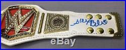 Alexa Bliss SIGNED WWE Womans Raw Championship Mini Title Belt with JSA COA