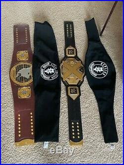 Authentic WWE NXT championship and North American Replica belts with bags euc