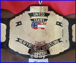 Autographed Ric Flair Authentic WCW United States Championship Title belt WWE