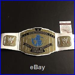 Autographed/Signed HULK HOGAN WWE Wrestling White Championship Belt JSA COA Auto