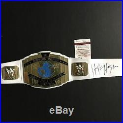 Autographed/Signed HULK HOGAN White Replica WWE Championship Title Belt JSA COA