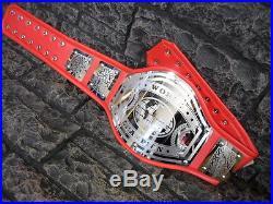 BLOWOUT SALE! World Championship Belt Avenger Adult Size Metal Plates Red wwe