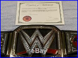 BROCK LESNAR Autographed WWE World Heavyweight Championship Belt with COA