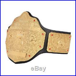 Brand New wwe World Heavyweight Big Gold Championship Leather Belt Gold Plated