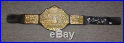 Bret The Hitman Hart Signed WWE WWF Championship Toy Belt PSA/DNA COA Autograph