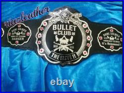 Bullet Club World Wrestling Championship Belt Brass Metal Plated Adult Size Repl