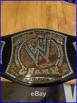 CM Punk Autographed WWE Spinner Championship belt