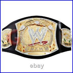 Championship Spinner Replica Title Belt 2mm Brass MetalPlates GOLD Plated Adult