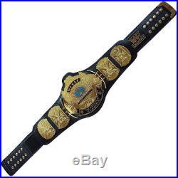 Classic Gold Winged Eagle Championship Belt Brass Plate Adult, Black WWE/WWF