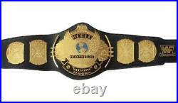 Classic Gold Winged Eagle Championship Belt Brass Plated Gold Belt Adult WWE WWF