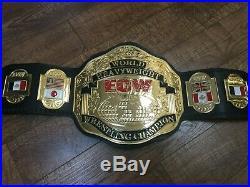 ECW World Championship Belt 4mm Zinc US Seller WWE WWF WCW NWA NXT FMW