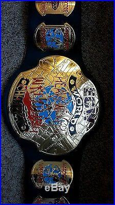 ECW wwe Heavyweight Championship Metal Adult Replica Belt rare orange snakeskin