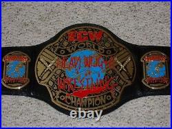 Ecw World Championship Metal Adult Replica Wwe Authentic Wrestling Title Belt