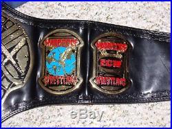 Ecw World Heavyweight Championship Metal Adult Size Wwe Replica Title Belt + Bag