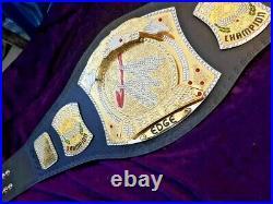 Edge Spinner Wrestling Championship Belt Adult Size Replica 4mm Brass Plates