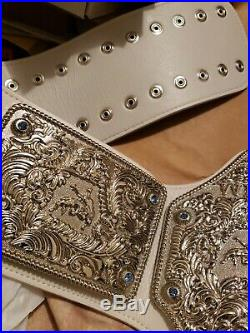 Fandu Big Gold World Heavyweight Championship Belt with White Strap WCW WWE NWA