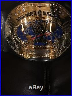 Figures Toy Co. WWE Deluxe Oval Intercontinental Championship Adult Replica Belt