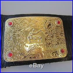 Figures Toys Company WCWithWWE 2006 Heavyweight Championship Belt Gold Jeweled
