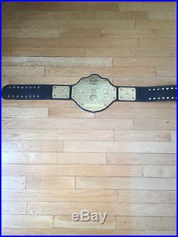 GOLDBERG WWE/WWF/WCWithNWA WORLD HEAVYWEIGHT CHAMPIONSHIP BELT AUTHENTIC ADULT