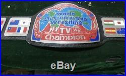Georgia Television Championship Belt NWA WCW ECW WWF NWA WWE 4MM THICK PLATES