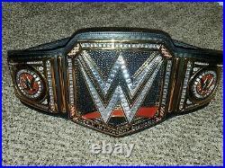 Goldberg/Kofi Kingston/The Miz/Roman Reigns Signed WWE Championship Replica Belt