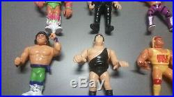 Hasbro WWF/WWE Wrestling Figures 1989-91 Lot With Ring and Championship Belt