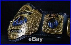 INTERNATIONAL Championship title belt. Made by WWE beltmakers Leather Rebels