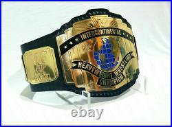 Intercontinental Replica Championship Wrestling Belt 2MM Brass Plates Adult Size