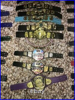 Lot Of 80 WWE Mattel Championship Belts Universal Tag Team Smackdown Raw NXT