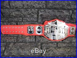 NEW Heavyweight Championship Belt Emperor Model Red Adult Size Metal Plates wwe