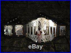 NEW Undisputed Championship Belt Legend Black Adult Metal Plates wwe wcw wwf nwa