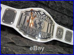 NEW Undisputed Championship Belt Legend Model White Strap Adult Metal Plates wwe
