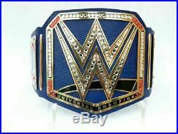 NEW WWE Blue Universal Championship Belt Adult Size Wrestling 4 MM BRASS