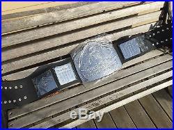 NWA WCW WWE Chrome U. S. Heavyweight Championship Belt 10 lbs of Silver Version