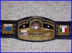 NWA WORLD HEAVYWEIGHT CHAMPIONSHIP METAL ADULT SIZE REPLICA TITLE BELT wwe wcw