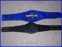 NWA WORLD TAG TEAM CHAMPIONSHIP ADULT REPLICA METAL WRESTLING TITLE BELT wwe tna