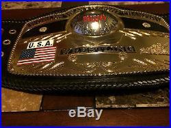 NWA World Heavyweight Championship Wrestling belt ReLeathered Real Leather WWE
