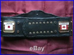 NWA Worlds Heavyweight Championship Belt Gold Plated 4MM Powerrr WWF WWE WCW ORM