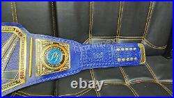 New 2mm WWE Blue Universal Championship Adult Replica Belt Brass